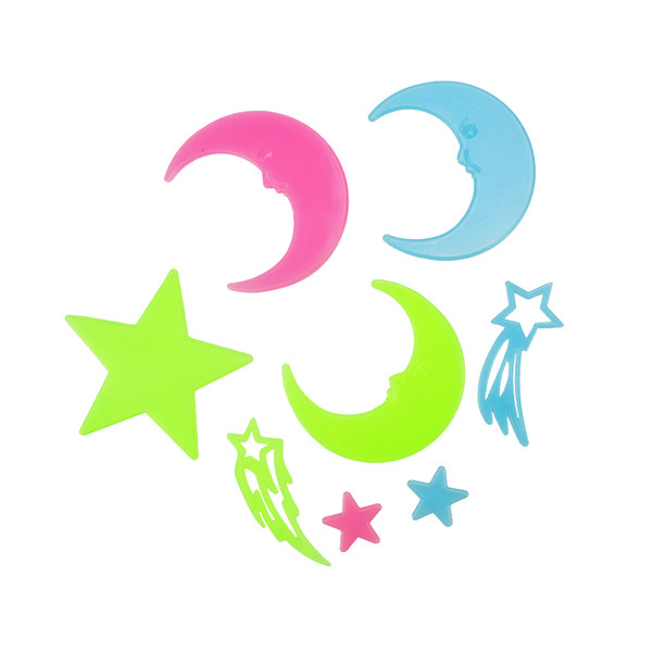 Diy moons kids wall sticker for kids rooms glow in the dark wall stickers home decor living rooms fluorescent poster wallpaper