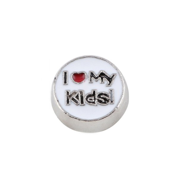 20pcs/lot DIY ALLOY I love my kids floating charms for glass memory lockets good quality and free shipping