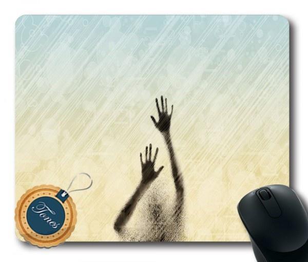 Tapis de souris rectangle imprimé personnalisé Ombre des mains / Mousepad Gaming oblong