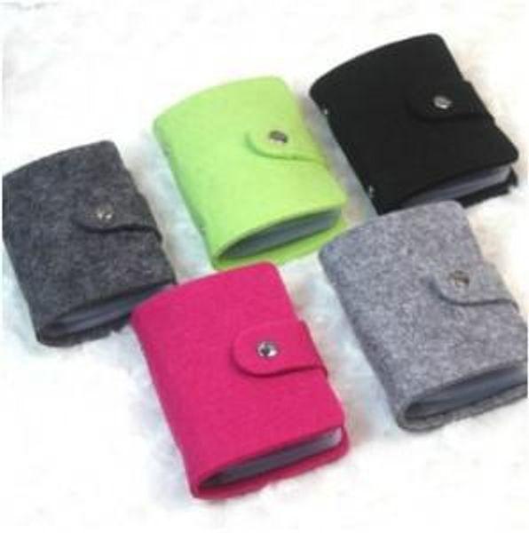 Corea retro fieltro de lana paquete de tarjetas de más de 24-bit titular de la tarjeta de banco Titulares de la tarjeta Envío gratis a560