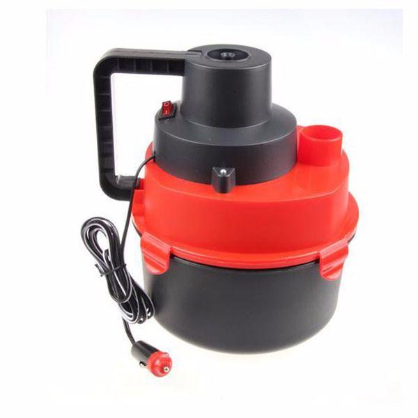 12V Portable Wet Dry Mini Vacuum Cleaner Carpet Car Boat Air Inflating Pump