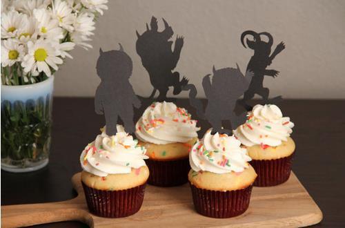 Adorável Onde as Coisas Selvagens São Selvagem Um cupcake toppers aniversário bridal shower Casamento acoplamento Despedida de Solteiro Decoração palitos