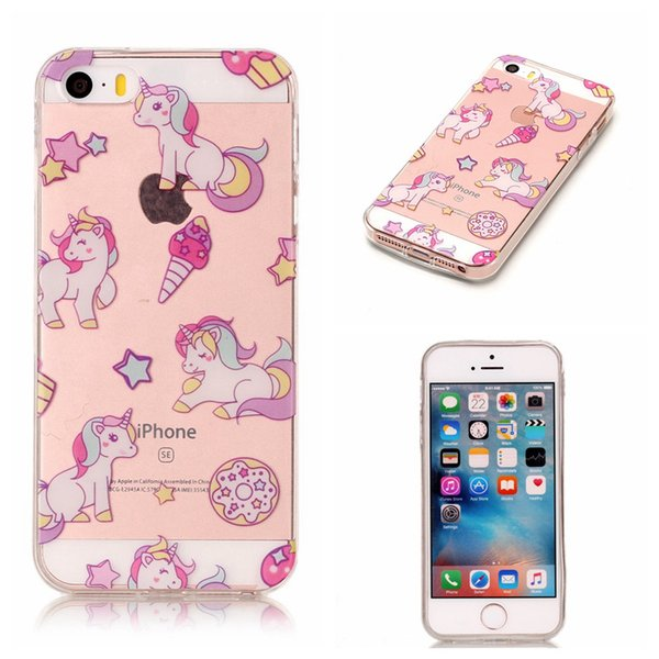 Soft Skin per Apple iPhone 5C 5S 5SE 6S 4.7 7 8 Plus 5.5 Touch 5 6 Huawei P8lite 2017 TPU IMD Custodia Gel Cover posteriore morbida in gomma