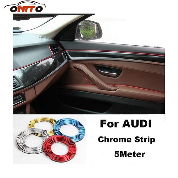 Good quality 5 Meter car decorative chrome strips auto embelm decoration strips for A1/A2/A3/A4/A5/A6/A7/A8/Q1/Q3/Q5/Q7/TT/R8/S/RS