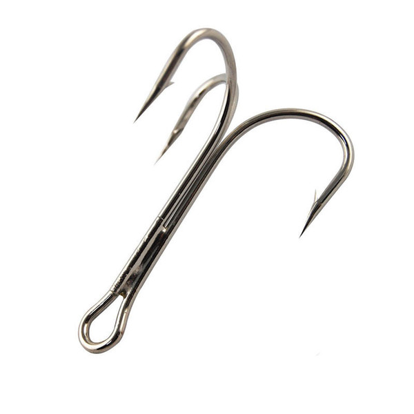 steel ruby 10pcs 3551 High Carbon Steel Treble Fishing Hooks Saltwater Sharp Big O'Shaughnessy Triple Bait Fishhooks Size 6/0 7/0 8/0 10/0