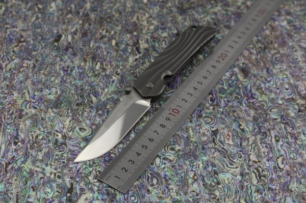 ROCKSTEAD HIZEN-TIC Japon couteau de haute qualité pliant Japon D2 lame de miroir ensemble TC4 Titanium poignée Camping tactique EDC couteau outils