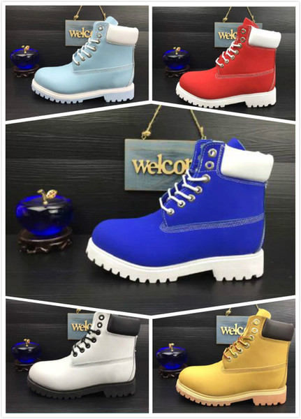 Hot Sale Winter Blue Snow Boots Classic Brand Designer TBL 10061 Ankle Boots For Women Mens Cow Leather Fashion Outdoor Work Casual Shoes