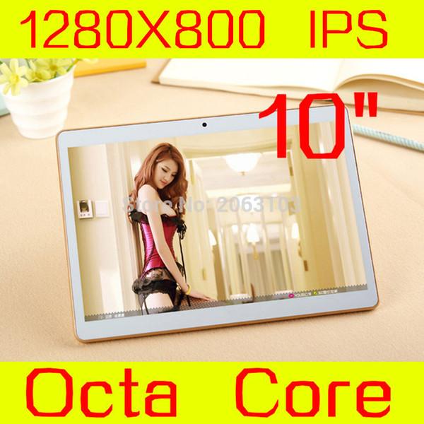 Vente en gros - 2017 Nouveau Android 5.1 Tablettes PC Tab Pad 10 pouces IPS 1280x800 Octa Core 4 Go de RAM 32 Go de ROM Carte SIM Double 3G Appel téléphonique 10