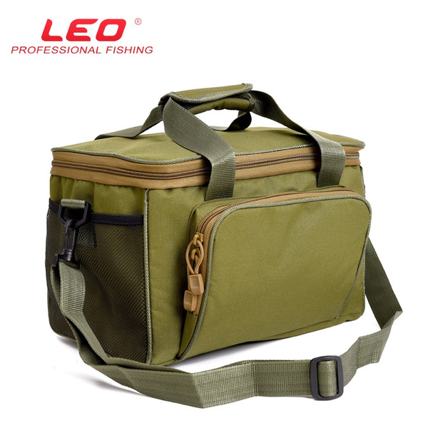 Wholesale- LEO Army Green Oxford Canvas Outdoor Multifunction Fishing Lures Bag
