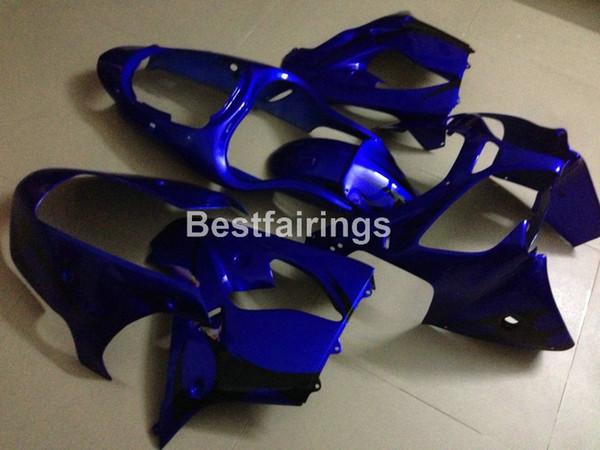Nuevo cuerpo caliente Kit carenado para Kawasaki Ninja ZX9R 2000 2001 carenados motocicleta azul conjunto ZX9R 00 01 PJ55