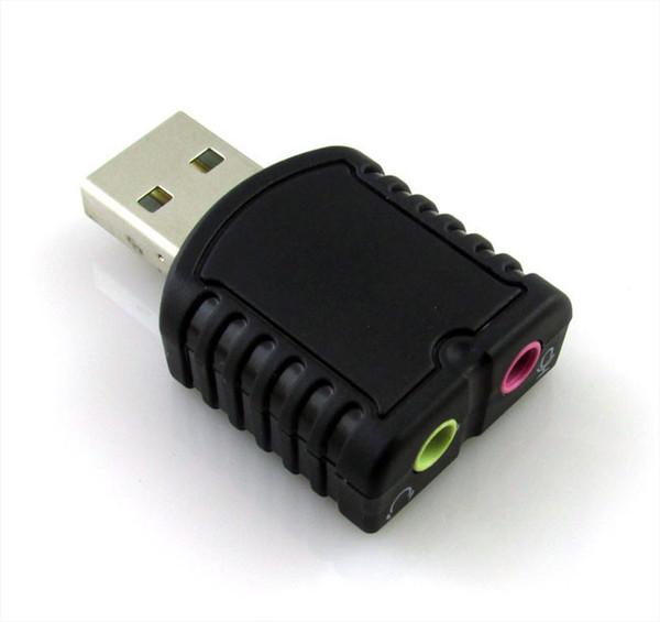 Tarjeta de sonido USB tarjeta de sonido externa Adaptador de sonido estéreo USB2.0 interfaz de audio tarjeta de sonido para escritorio / portátil