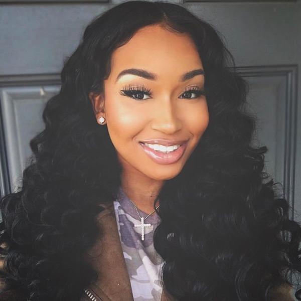 Body Wave Soie Top Glueless Brésilienne Vierge 180% densité afro-américaine base de soie Full Lace perruques de cheveux humains Lace Front perruques