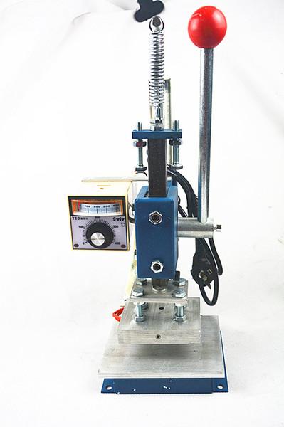 Manuelle Heißfolienprägemaschine Leder Drucker Rillmaschine Kennzeichnung Presse Maschine Prägung 8x10 cm