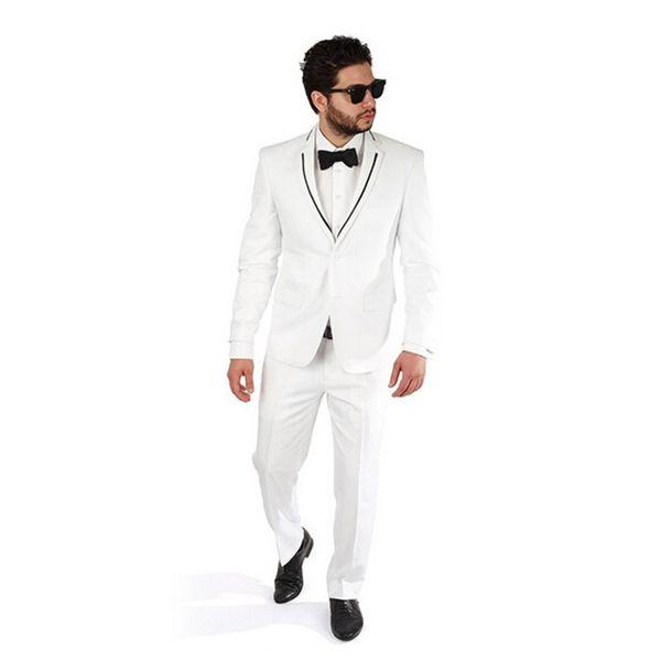 Custom man suits Slim Fit groom wedding suits Tuxedo Fashion handsome groom best man prom dress suits(jacket+pants)