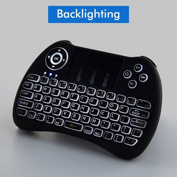f0b1a07e88e Wireless Mini Keyboard Backlit H9 2.4GHz Fly Air Mouse TouchPad Remote  Control for Android TV