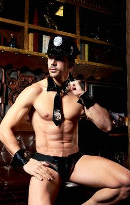 Men Sexy Uniform Lingerie Male Erotic policeman Outfit Cosplay Costume Uniform sets free shipping