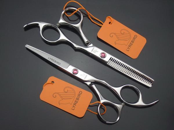 Hair scissors professional barber scissors 6 INCH LYREBIRD Pink Gem screw right hand 1pcs/LOT NEW