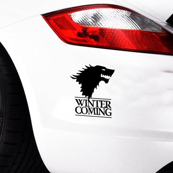 50pcsWinter Is Coming Wolf Game Of Thrones Car Styling Decorative Head Of Wolf Car Stickers Vinyl Decals JDM