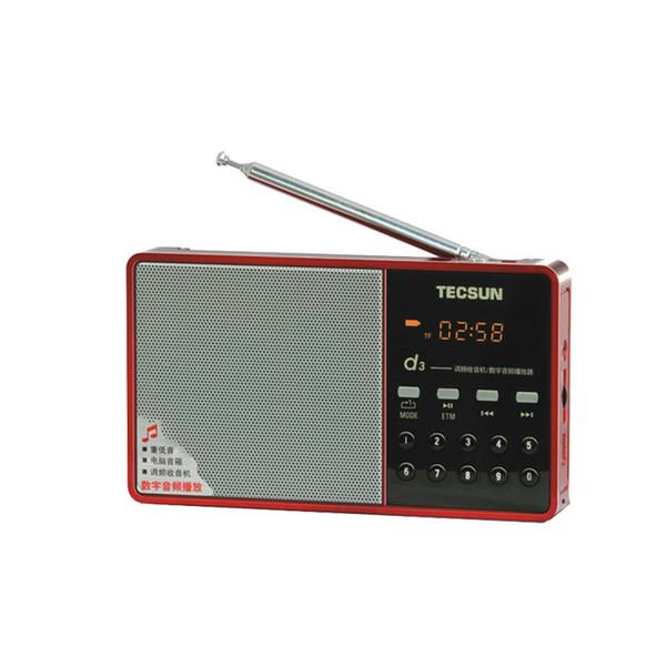 Al por mayor-envío gratis TECSUN D3 FM Radio altavoz de audio digital FM 64-108 reproductor de MP3