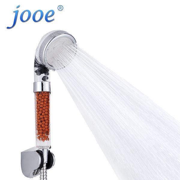 Wholesale- Handheld Shower Head Water Saving Turbocharger Bath SPA Anion Balls Nozzle Bath Sprinkler Sprayer Filter Bathroom accessories