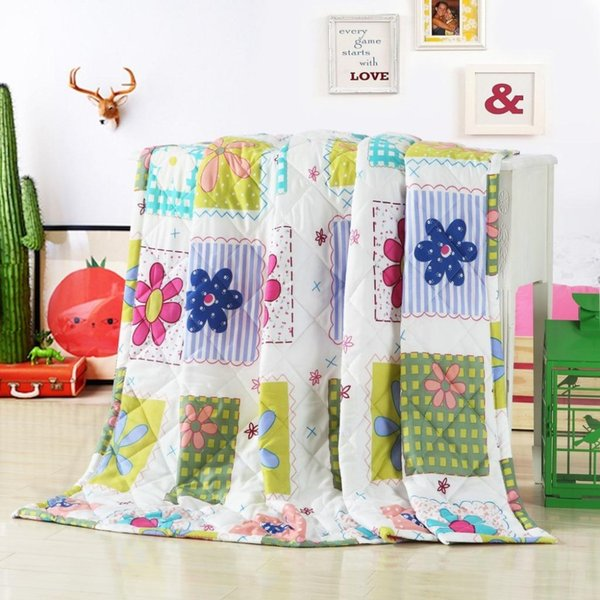 Al por mayor-2016 Edredón de verano 150 * 200 180 * 220 200 * 230 Textiles para el hogar Apto para Niños Kids Adult Manta Consolador Envío Gratis
