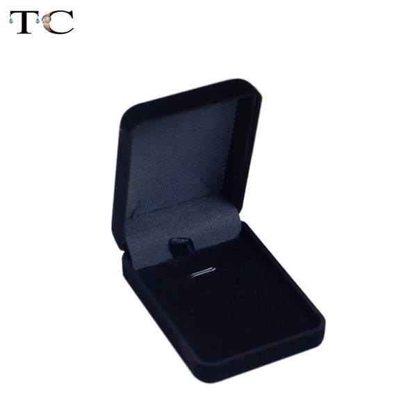 Velvet Box High Quality Square Jewelry Box For Pendant & Necklace Jewelry Gift Boxes Packaging 12pcs/lot Free Shipping