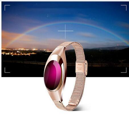 2017 Moda Estilo Z18 Banda Inteligente Impermeable Mujeres Reloj Inteligente Soporte SmartBand Podómetro Relojes de Frecuencia Cardíaca Madre regalo