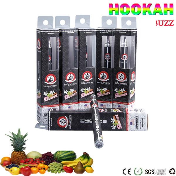 E ShiSha Hookah vape Pen Disposable Electronic Cigarette Pipe Pen Cigar Fruit Juice E Cig Stick E-HookahTime 800 Puffs Colorful 12 Flavors