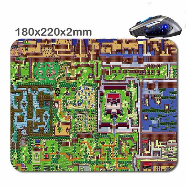 The Legend Of Zelda Map Mouse Pad Rubber Soft Mousepad Quadrate Non on