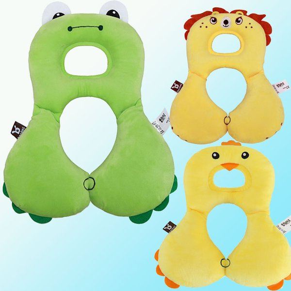 1-4 Years Old Infant U-shape Neck Pillow Neck Protection Pillow Infants U Shaped Animal Designs Cotton Neck U Pillow