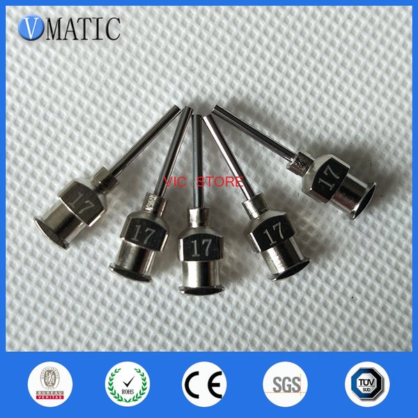 0.5 inch Tip Length 17G All Metal Tips Blunt Stainless Steel 12PCS Glue Dispensing Needles Syringe Needle Tips