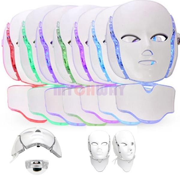 7 Farben Photon Pdt Led Hautpflege Gesichtsmaske Blau Grün Rotlicht Therapie Schönheit Geräte Gesicht Hals Maske