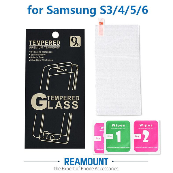 Wholesale Clear 0.3mm Premium Tempered Glass for Samsung S3 S4 S5 S6 Screen Protector for Samsung S6 S5 S4 S3