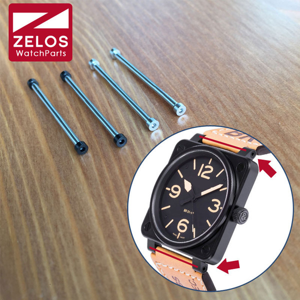 top popular Wholesale- 2pieces set 34mm inner Hexagon watch screw tube screw bar rod for AVIATION BR 01 skull 46mm watch BR 01-92 AIRBORNE 2021