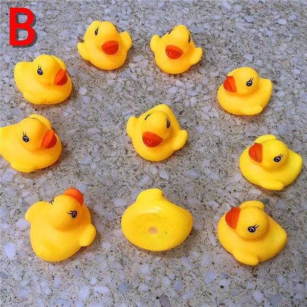 best selling 2017 mini Rubber ducks bath duck Pvc duck with sound Floating Duck Fast delivery Swiming Beach b736