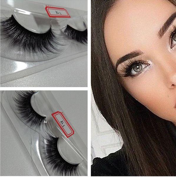 Hot Sale 3D Silk Lashes Handmade Natural False Eyelashes Long Thick Makeup Fake Eyelashes for make up beauty