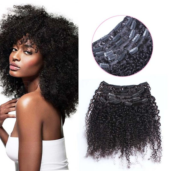 Cheap african american clip in human hair extensions 100g 4c kinky african american clip in human hair extensions 100g 7pcs 4c kinky curly clip ins natural color pmusecretfo Choice Image