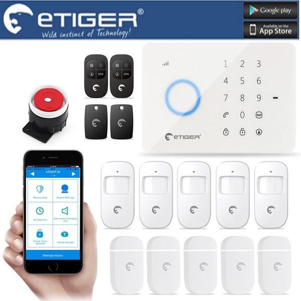 LS111-ES-S3B eTIGER LCD Drahtlose Verdrahtete GSM / SMS Einbrecher Für Home Security Alarm System wie chuango G5