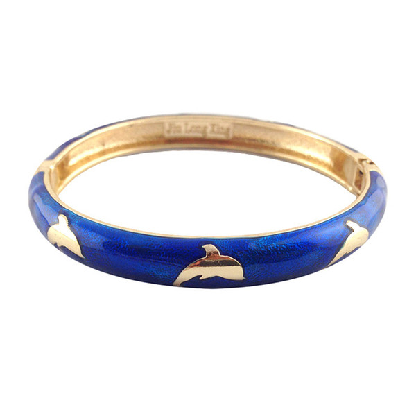 lovely Cloisonne Bangles animal Dolphin desigh Bracelets for girls and Women Accessories Fashion Jewelry many Colour A010B