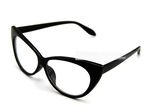 Wholesale- aevogue ! fashion plain glass spectacles vintage Cat's eye modelling Glasses women frame eyewear clear lens glasses DT0083