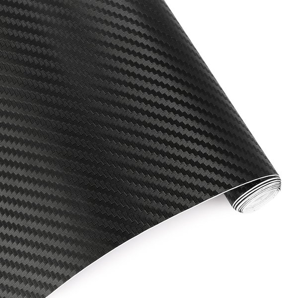 top popular 60cmx10cm Car Styling 3D 3M Carbon Fiber Sheet Wrap Film Vinyl Motorcycle Car Stickers And Decals Squeegee Tool Accessories 2019