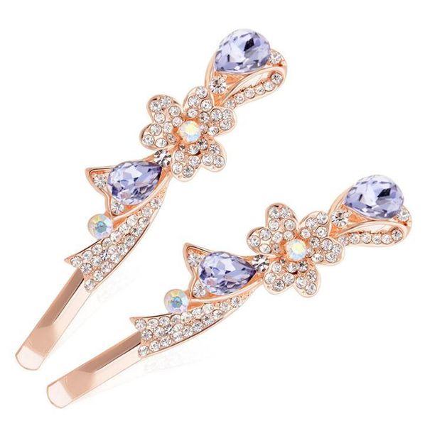 New Arrival Fashion Bowknot Flower Rhinestone Hair pins Headwear Women Bridal Crystal Hair Clip Barrettes Hairpin Headpieces