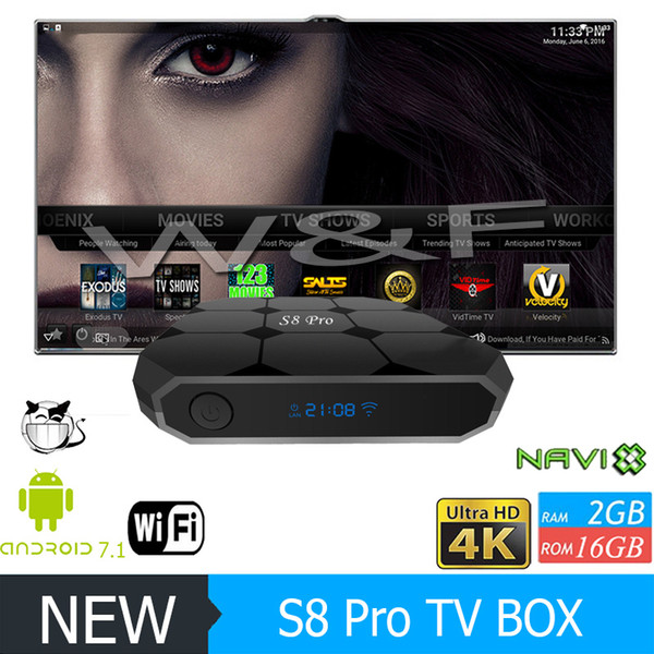 top popular Hot selling S8 PRO Android 8.1 TV Box Amlogic S905W 18.1 1GB 8GB 2GB 16GB Better MXQ PRO T95M X96 MINI TV BOX 2019