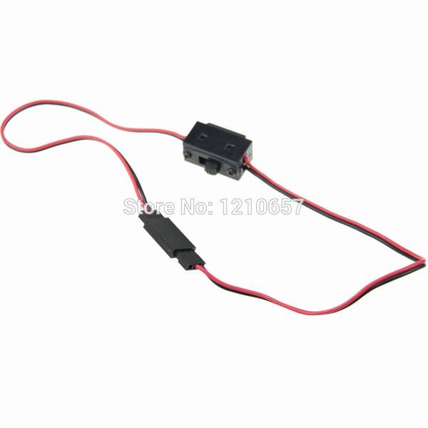 Wholesale- 10PCS lot R/C Battery Switch Receiver Battery On Off Futaba JR Plug Male / Female