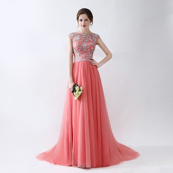 Free Shipping Sparkle Charming Style Zipper Evening Long Dresses With Beaded Beading Sequin Pleats Prom Gowns