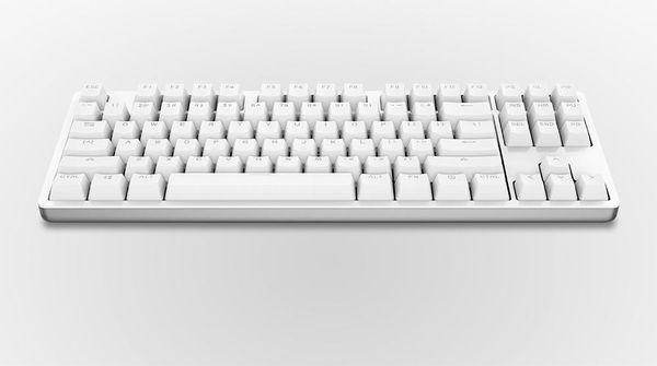 Neue mechanische Tastatur LED-Hintergrundbeleuchtung Pro Gaming-Tastatur mit Hintergrundbeleuchtung Aluminiumlegierung für Desktop-Computer 87 Tasten