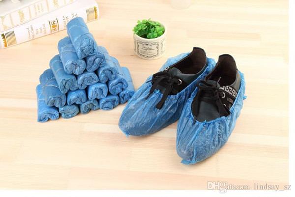 Lowest Price 500pcs Fedex Free ship disposable shoe covers one time plastic PVC shoe cover once-off antiskid