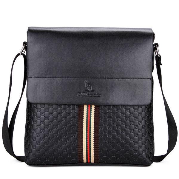 fad292a813 Wholesale- New POLO Famous Brand Classic Design Leather Men s Messenger Bags  Promotional Casual Business Man Bags Shoulder Bag Briefcase