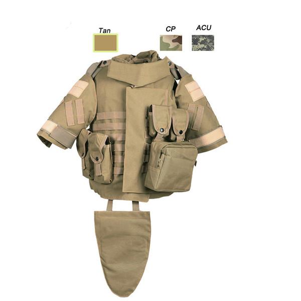 Outdoor Sports Outdoor Camouflage Body Armor Combat Assault Waistcoat Tactical Molle Children Vest Plate Carrier Vest NO06-018