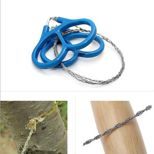 High Quality Stainless Steel Wire Saw For cutting wood Outdoor Practical Hiking camping Emergency Survival Gear Tools